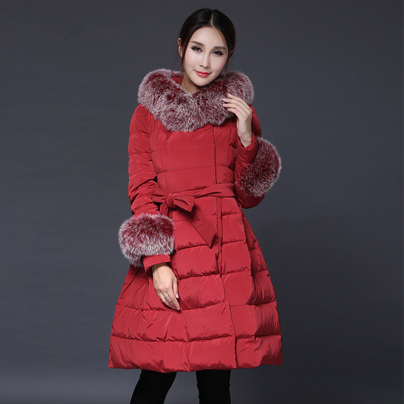 2018New Winter Long Section Down Jacket Women's Coat Large Size