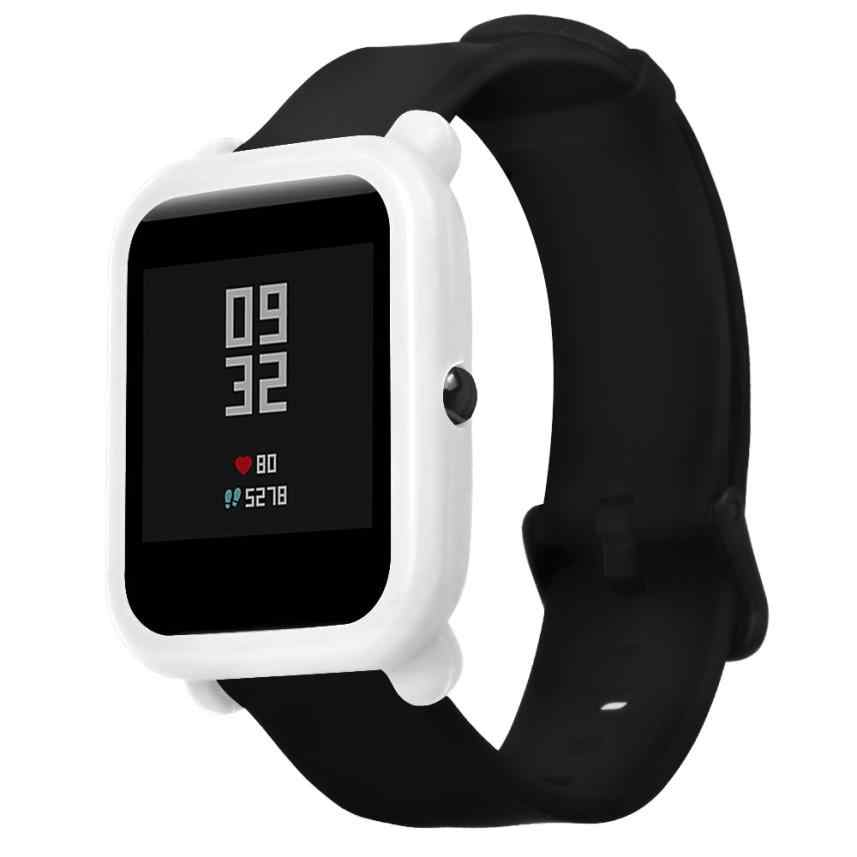 2018 New Soft Silicone TPU Smart Watch Protection Full Case Cover For Huami Amazfit Bip Youth Watch