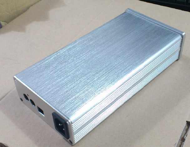 Perak mini 1105 semua aluminium penguat chassis/Tabung amp amplifier/DAC Decoder kasus/AMP Enclosure/kasus/DIY box (116*50*229mm)