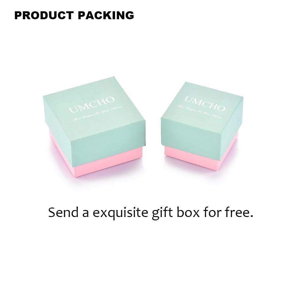 Umcho perak 925 pink sapphire rings untuk wanita engagement partai - Perhiasan bagus - Foto 6