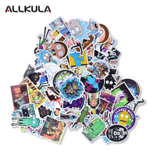 50pcs Rick and Morty Stickers for Laptop Car Styling Phone Luggage Bike Motorcycle Mixed Cartoon Pvc Waterproof Sticker