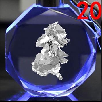 Брелок светодиодный кристалл Touhou Project 2