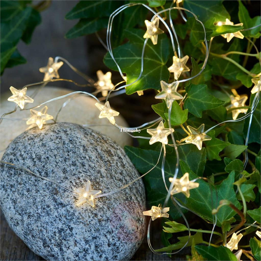 Warm White Star Micro Fairy Lights Led Light String Battery For Party Outdoor Indoor Wedding Xmas Home Decoration Wire Lights