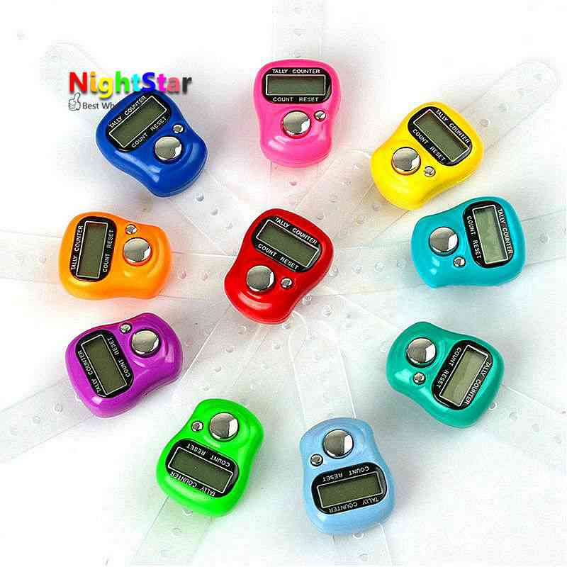 random Digit Digital Lcd Electronic Finger Hand Ring Knit Row Tally Counter SP