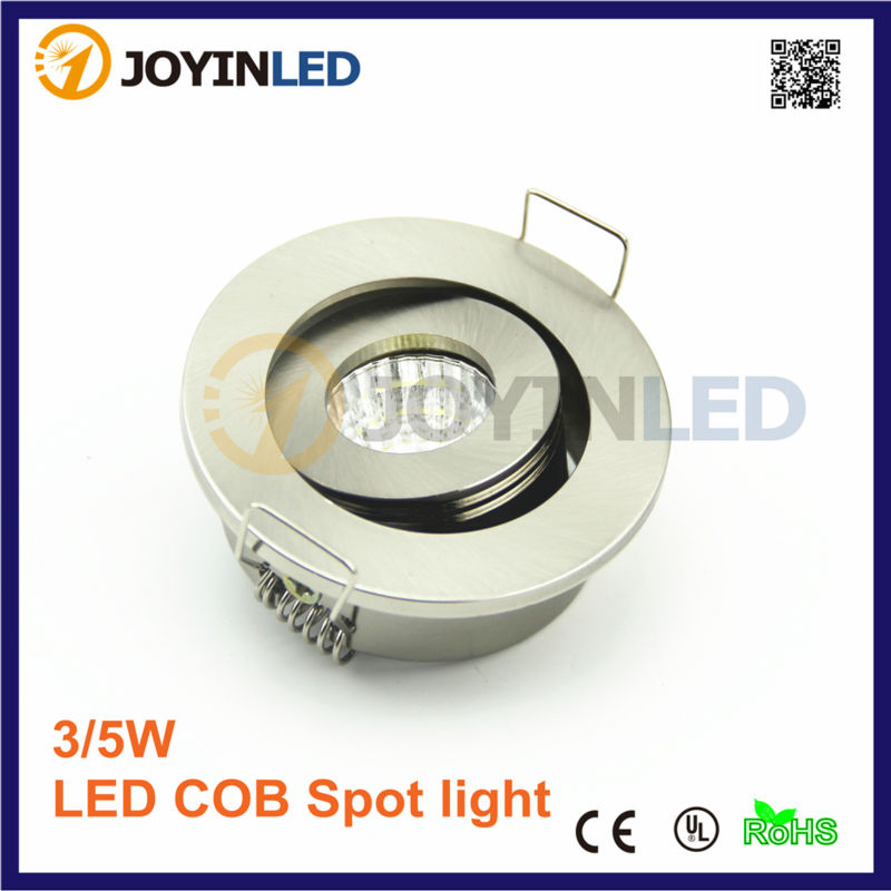 3W COB Small Recessed LED Downlights Mini Adjustable ...
