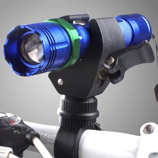 Hot Selling 360 Degree Cycling Bicycle Torch Clamp Bike Mount Holder for LED Flashlight Torch Clamp