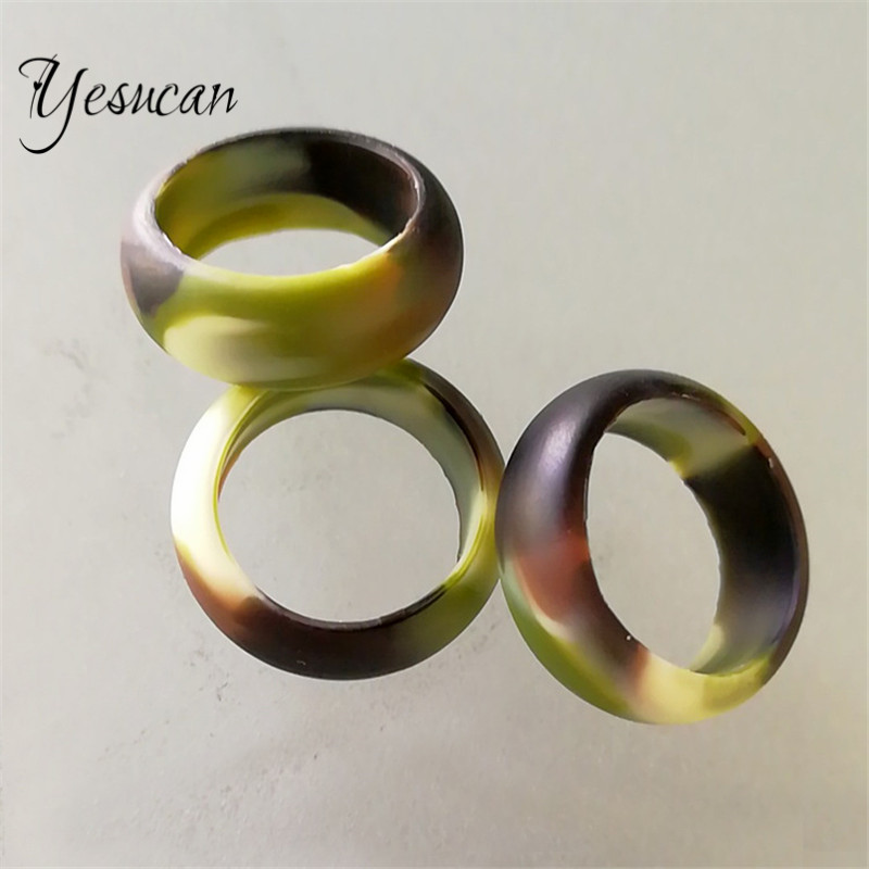 Yesucan Man Women Homosexuality Jewelry Rings Silicone Ring Camouflage Punk Cool Ring Women Lover Sport Yoga Party Jewelry Gift
