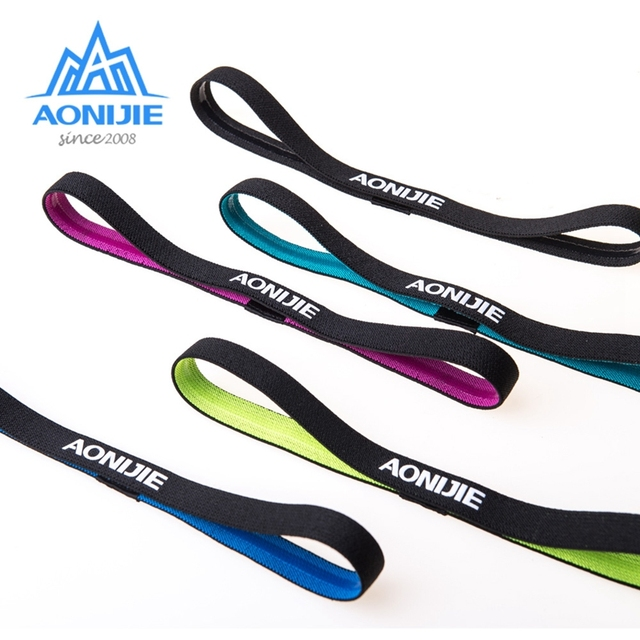 Aonijie Sports Headband Unisex Running Yoga Non-slip Silicone Belt Sweat-absorbent Headband Sweat Guide Belt Antiperspirant