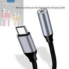 Adapter Type C 3.5 Jack USB C naar 3.5mm AUX Hoofdtelefoon met oplaadkabel Voor Huawei mate 20 P30 pro Xiao mi mi 6 8 audio kabel
