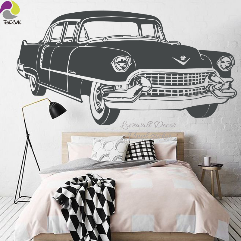 Cool Retro VW Car Wall Sticker Boy Room Ford Mustang