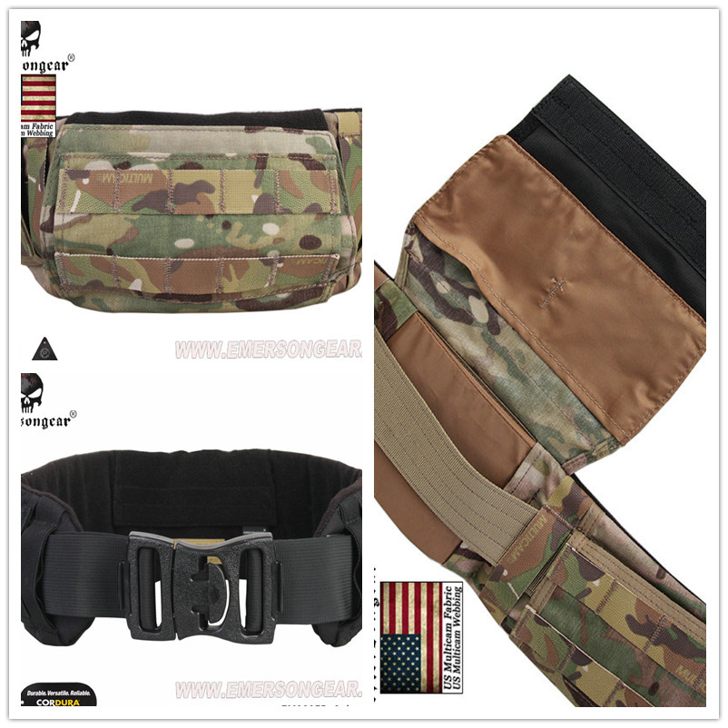 EMERSON CRYE PRECISION AVS LOW PROFILE BELT MULTICAM Men Airsoft Combat Military Army belt