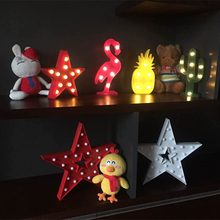 LED Night Light Cactus Flamingo Pineapple Lamp Novelty Luminaria 3D Marquee Letter light For Christmas Decoration Kid's Gift