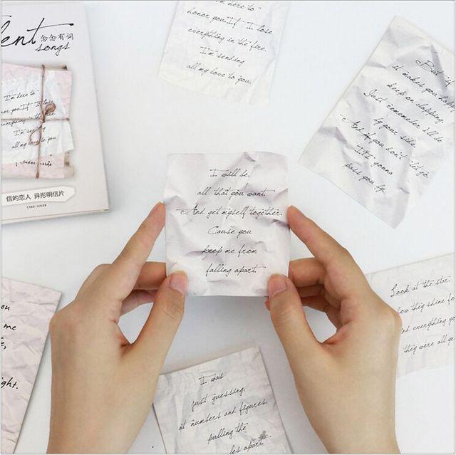 30pcspack Retro Love Letters Memories Romantic Postcard Greeting