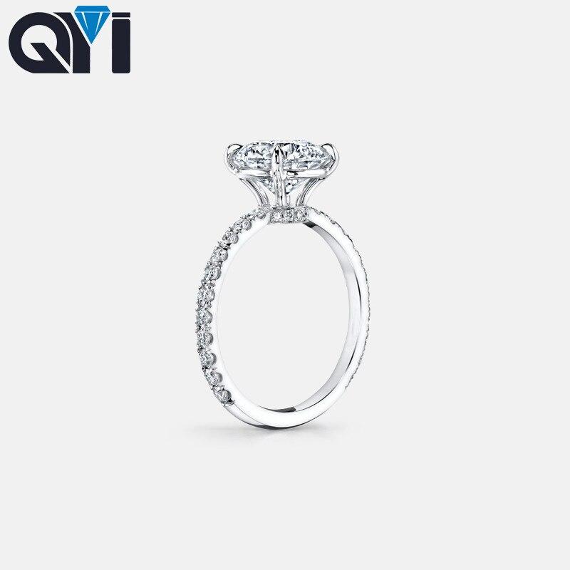 925 bague en argent Sterling 3 carats taille ronde SONA classique bague de fiançailles pour les femmes bague de promesse de mariage bijoux - 2