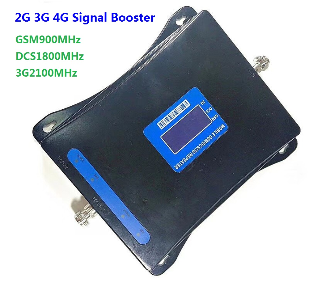 2G 3G 4G Triple band Cell Phone Signal Booster 70dB GSM 900 LTE 1800 3G 2100MHz Mobile Cellular Signal Repeater amplifier2G 3G 4G Triple band Cell Phone Signal Booster 70dB GSM 900 LTE 1800 3G 2100MHz Mobile Cellular Signal Repeater amplifier