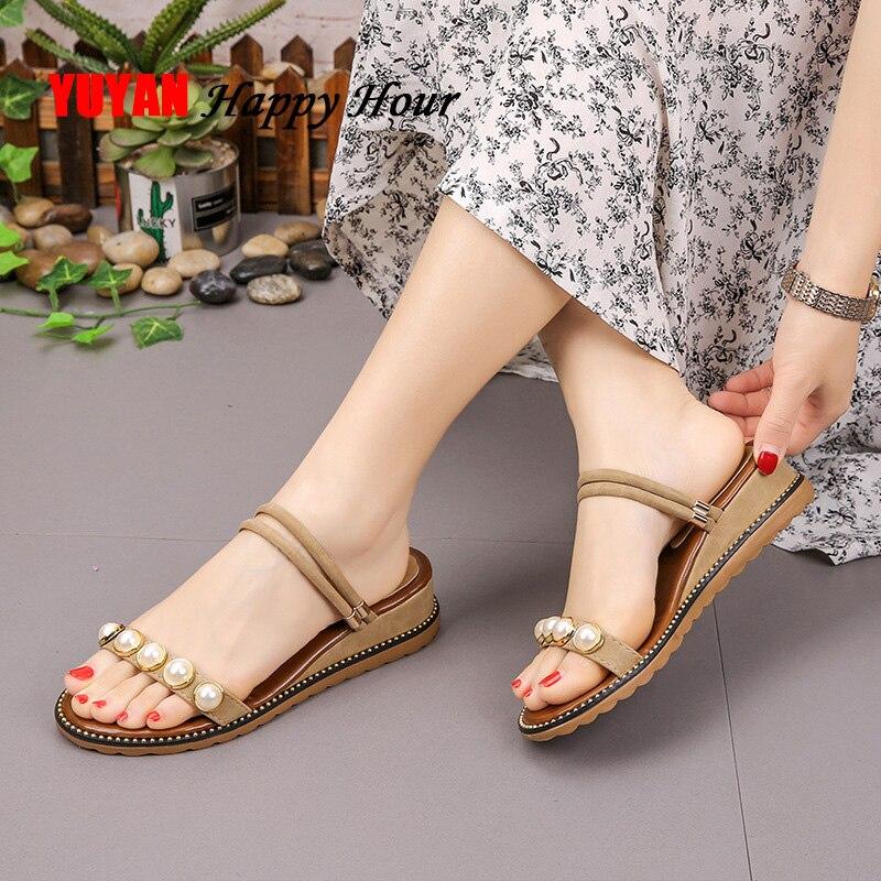 2019 Sommer Keil Sandalen Frauen Sommer Schuhe Elegante Damen Schuhe Frauen Sandalen Frau Sommer Keil Schuhe A696