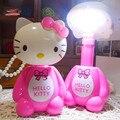 Горячая новинка светодиодная перезаряжаемая настольная лампа Hello Kitty Гибкая длина ночник 12LED 220В Лампа для чтения для студентов защита глаз