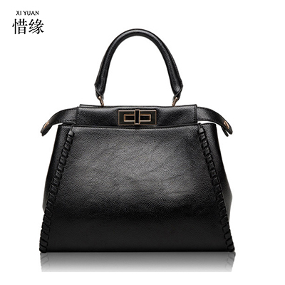 XIYUAN 2017 Summer Top Layer Genuine Leather grey Bag Chinese Style Chain Shoulder Bag Cute big