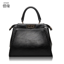 XIYUAN 2017 Summer Top Layer Genuine Leather grey Bag Chinese Style Chain Shoulder Bag Cute big Fashion Women red Messenger Bags