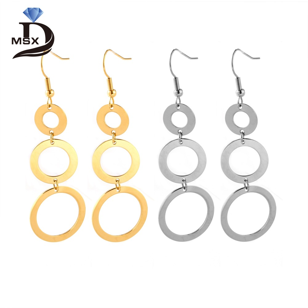 double circle eklexic drop interlinking products earrings circular