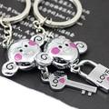 Free Shipping Promotion new couple Monkey keychain key shape keyring lock keyfob gift key fob 5227