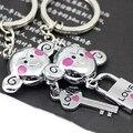 Promoção frete Grátis novo Macaco casal chaveiro chave chaveiro em forma de bloqueio de presente chave fob keyfob 5227