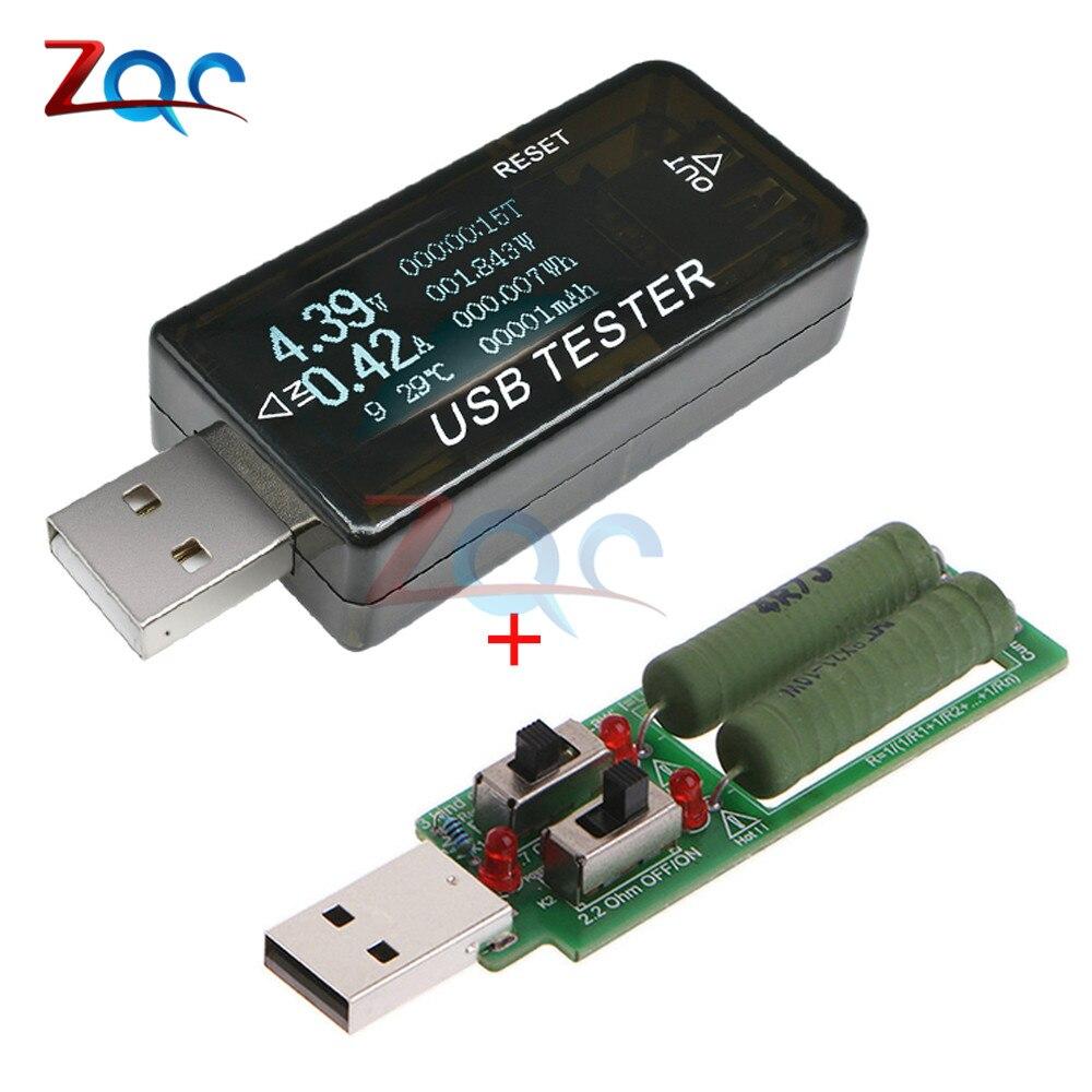 8 In1 QC2.0 QC3.0 DC 4-30v Electrical Bank Power USB Capacity Voltage Tester Current Meter Monitor Digital Voltmeter Ammeter