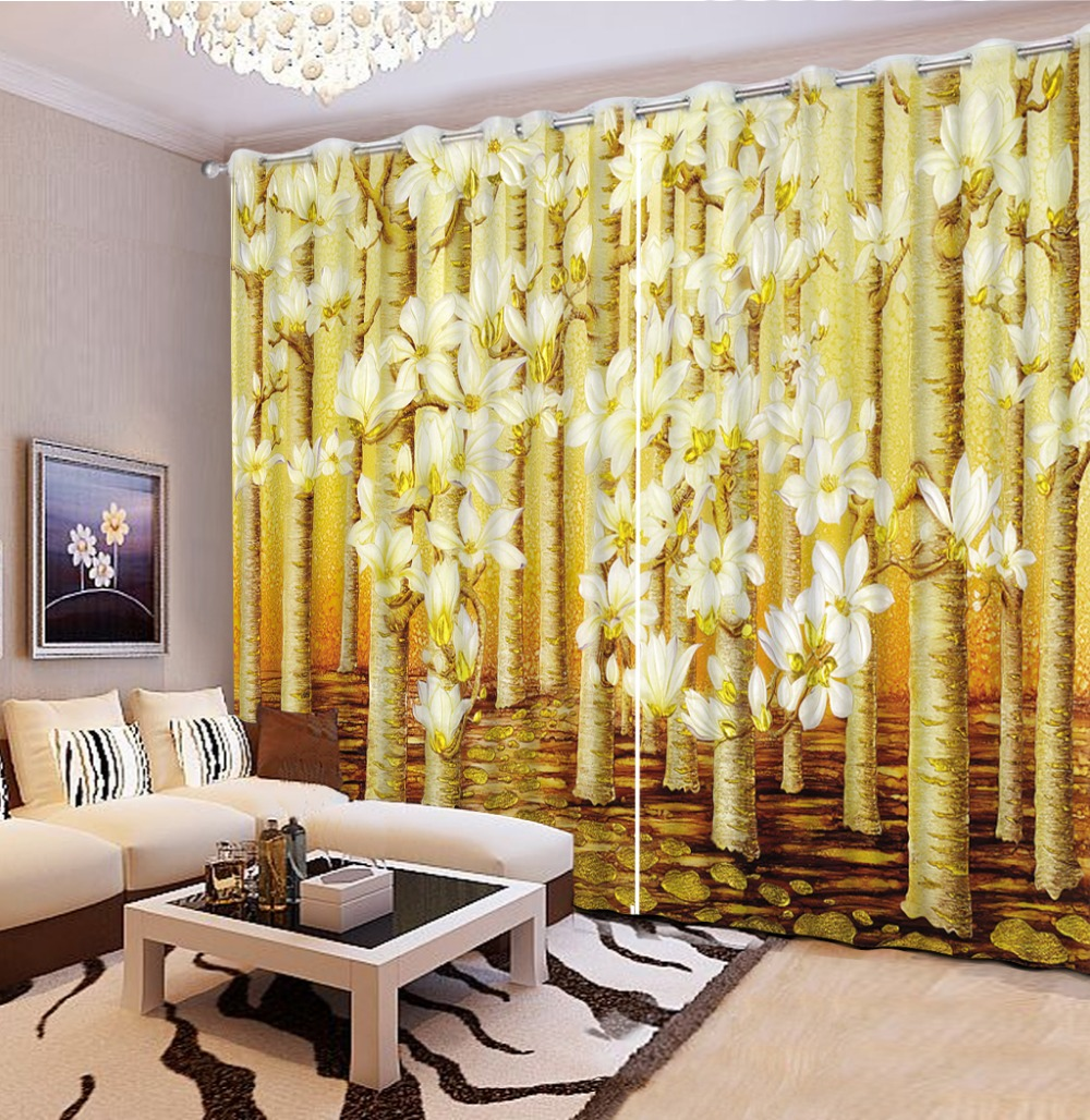 modern style country bedroom curtains magnolia flower custom curtains