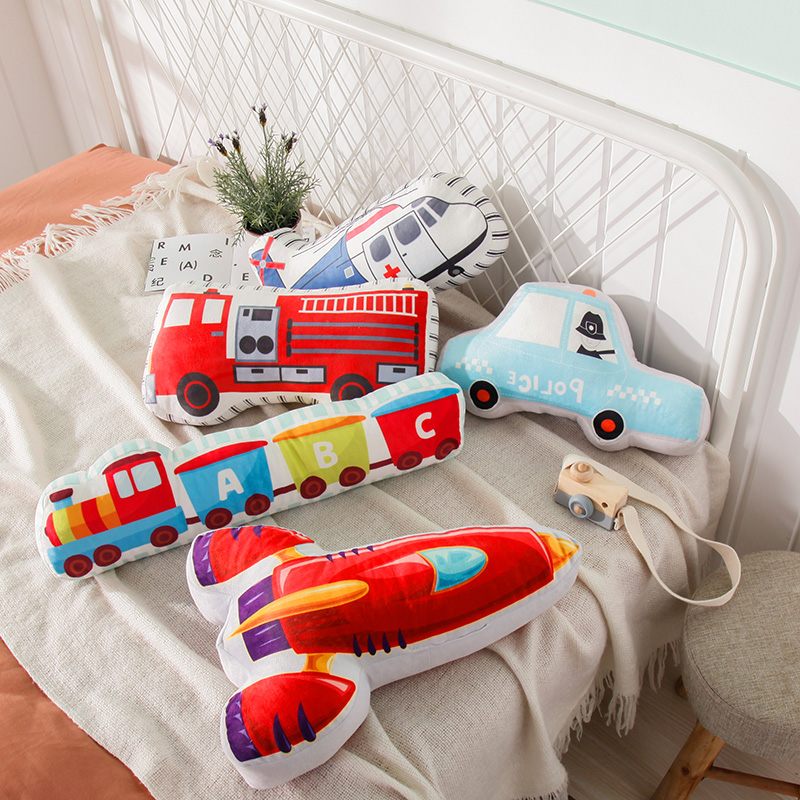 Candice guo plush toy stuffed doll cartoon traffic transportation car Truck rocket train Fire engine pillow cushion baby gift Candice guo plush toy stuffed doll cartoon traffic transportation car Truck rocket train Fire engine pillow cushion baby gift