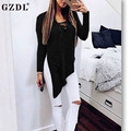 GZDL Four Colors Women's Lace-Up Tie V Neck Full Sleeve Casual Blouses Solid Fashion Autumn Women Slit Long Tops Blusas CL3434