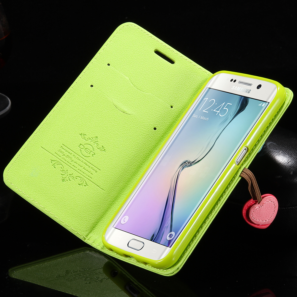 samsung galaxy s6 phone cases for girls. aliexpress.com : buy case for samsung galaxy s6 edge plus leather bag s7/ s7 cute fashion cherry flip card slot cover from phone cases girls