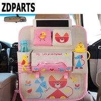 ZDPARTS Cartoon Car Back Seat Luggage Net Organizer Covers For Renault Megane 2 Logan Captur Alfa