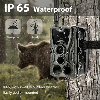 2G MMS SMS  SMTP Trail Wildlife Camera 20MP 1080P Night Vision Cellular Mobile Hunting Cameras HC801M Wireless Photo Trap 3