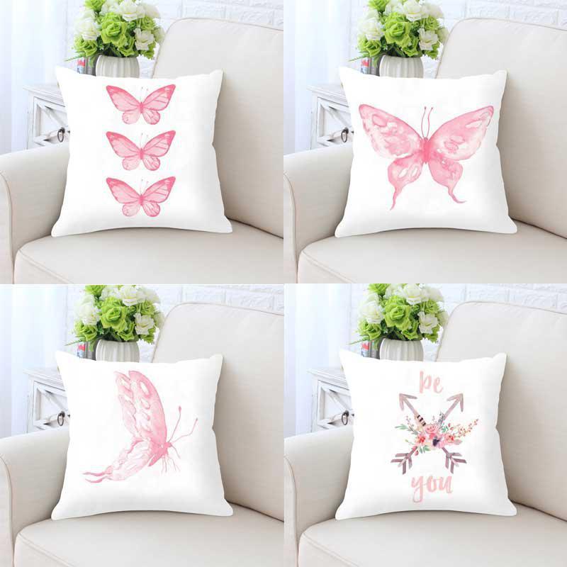 Party Decoration Pink Cushion Unicorn Butterfly Flower Garland Dreamcatcher Flamingo Monstera Rabbit Elephant For Girls Room