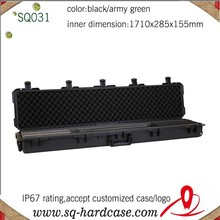 with wheels shockproof plastic hard gun case 1750 for rifles outdoor