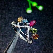 shilovem 925 sterling silver Natural tourmaline Ring fine Jewelry Customizable women trendy wedding  open wholesale lj030501agx shilovem 925 sterling silver natural emerald ring fine jewelry customizable women trendy wedding open wholesale tfj030301agml
