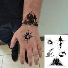 Vente En Gros Tattoo Sticker Compass Galerie Achetez A Des Lots A