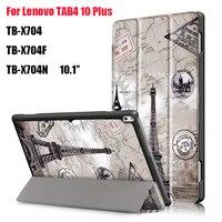 For Lenovo TAB 4 10 Plus TB X704N TB X704F Tablet Ultra Thin Magnet Smart Print