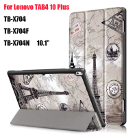 For Lenovo TAB 4 10 Plus TB X704N TB X704F Tablet Ultra Thin Magnet Smart Print