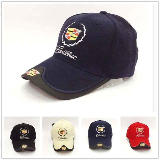 f0bbe93a942e1 Fuxury Brand GM cadillac baseball Hat Cap Bent Brim baseball caps Snapback  For Women And Men Car Fans Cotton Hip Hop Golf Caps
