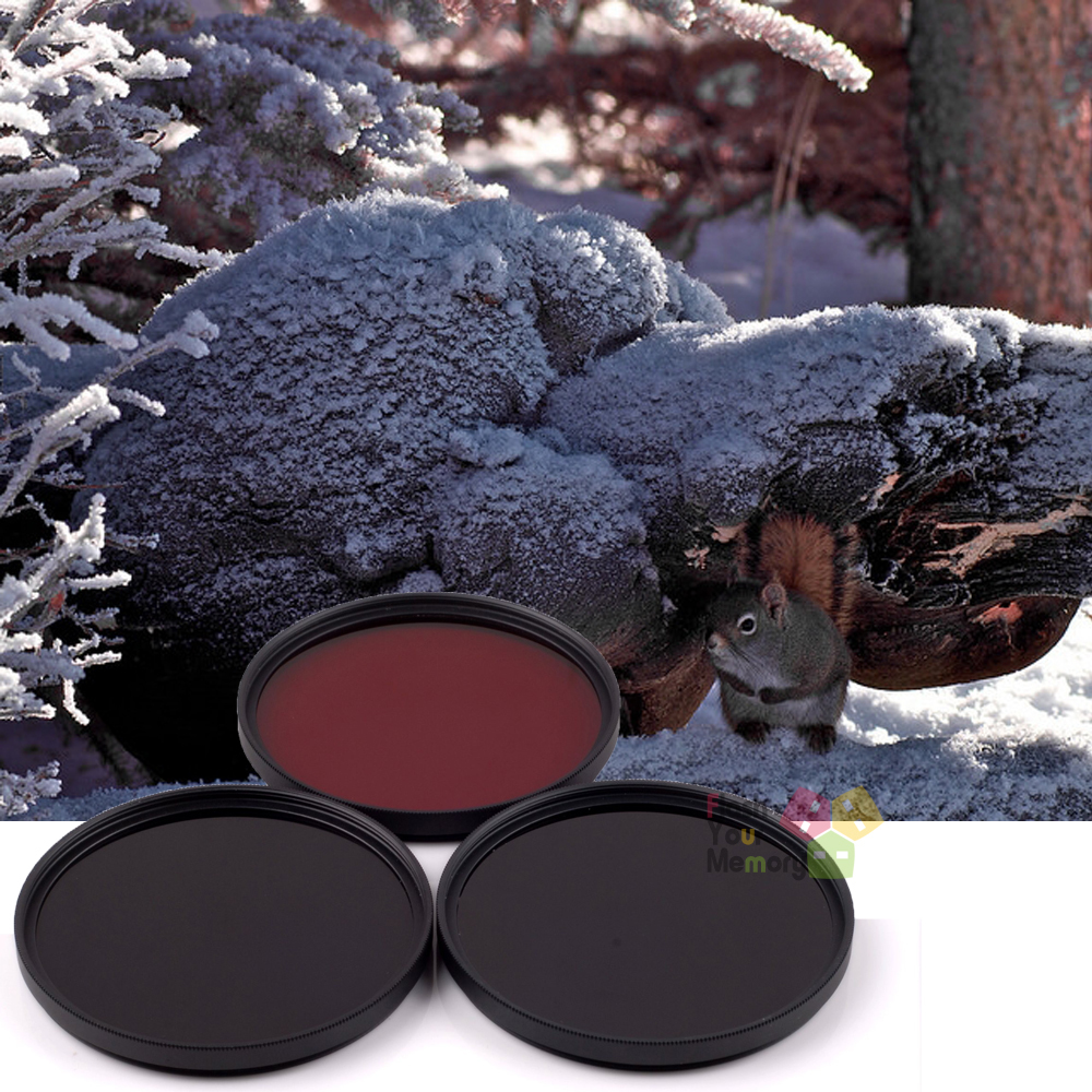 46mm 630nm+760nm+950nm Infrared IR Optical Grade Filter for Canon Nikon Fuji Pentax Sony Camera Lenses