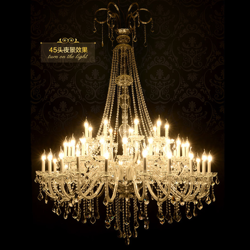 Large Crystal Chandelier for Living Room Large Foyer Chandelier - Indoor Lighting - Photo 2
