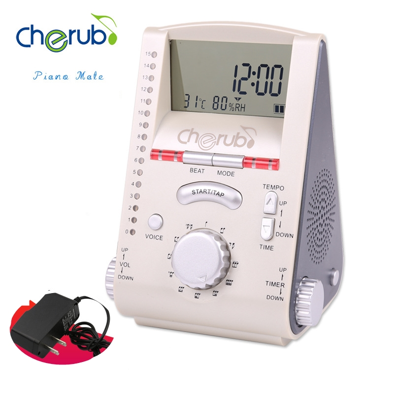 Cherub WSM-260 Multi-function Electronic Digital Metronome Rhythm trainer with Clock Thermometer Humidity Meter cherub wrw 106 rhythm trainer drum metronome