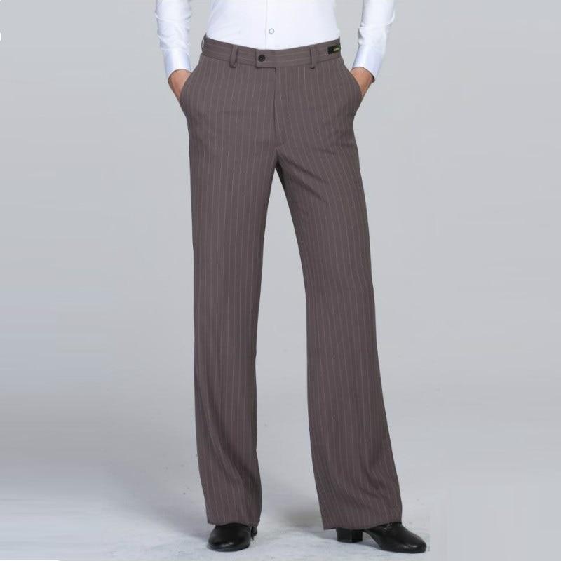 Male Latin Dancing Trouser Men's  Khiki Colors Pants Samba Chacha Paso Professional Men's Ballroom Dance Clothes B-6975