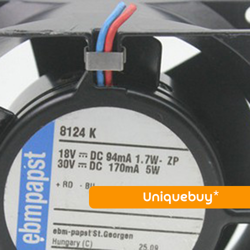High temperature resistance for ebmpapst All metal 8124K 8CM 12V 5W cooling fan free delivery typ 5118 n 12 dc 48 v 9 5 w fan three lines all metal resistance to high temperature