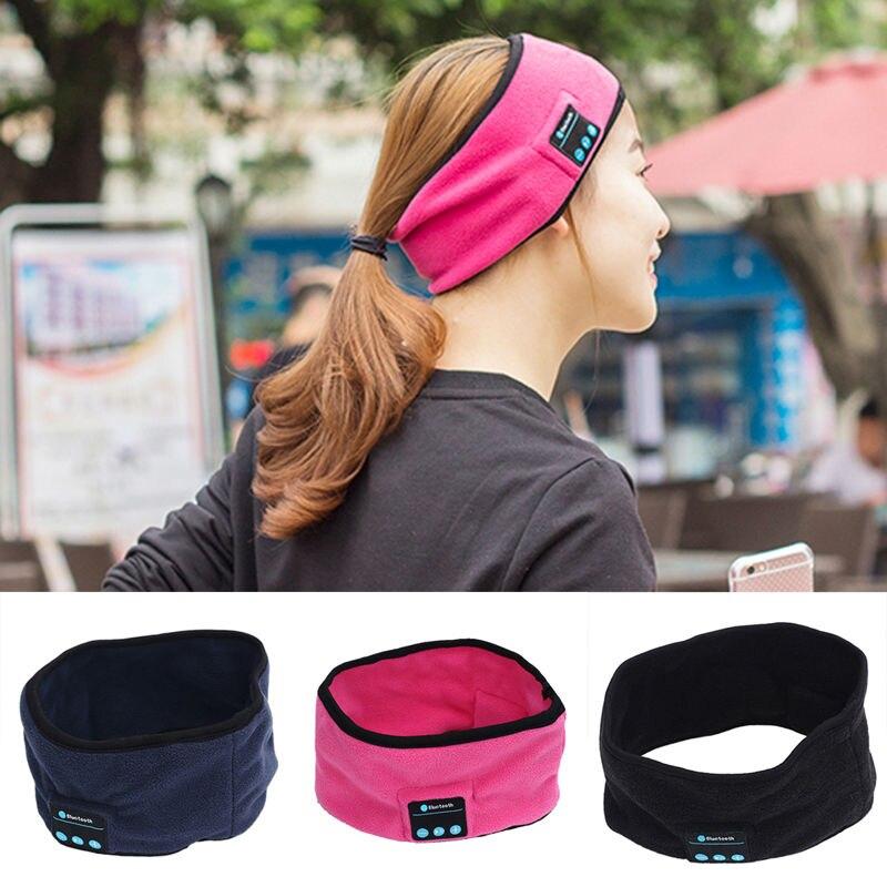 2017 New Soft Wireless <font><b>Bluetooth</b></font> 3.0 Smart Cap <font><b>Sleep</b></font> Headset Knitted Sports Sleeping Headband Headset <font><b>Headphone</b></font> Speaker