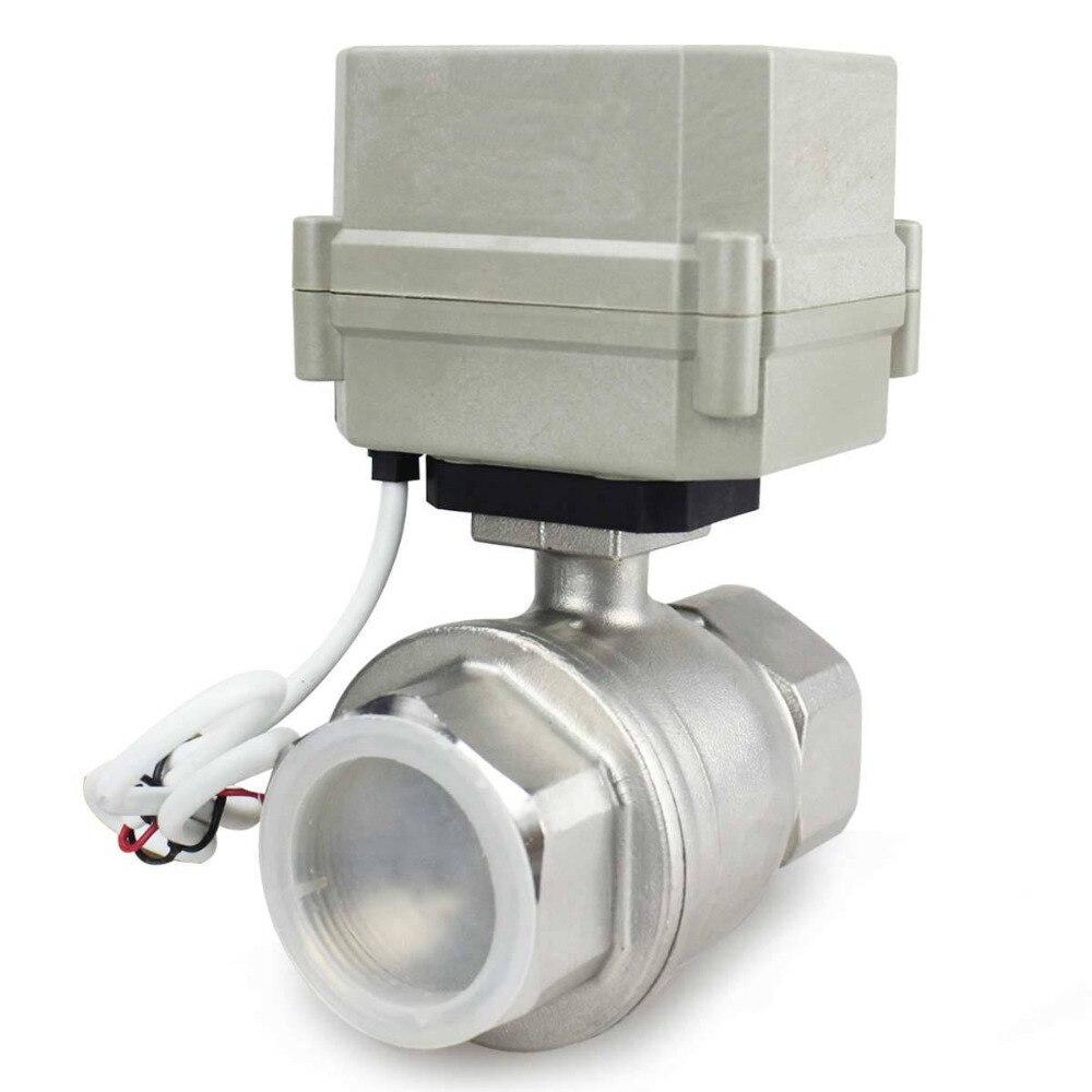 HSH Flo 1 1 2 DN40 2 Way SS304 Motorized Ball Valve Electrical Ball Valve