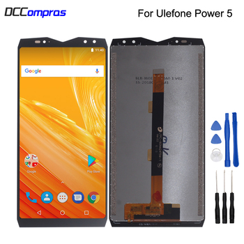 Original For Ulefone Power 5 LCD Display Touch Screen Digitizer Assembly For Ulefone Power 5 Screen LCD Display Phone Parts 5 5inch touch screen with lcd display assembly screen for senseit e510 digitizer touch screen with lcd display parts