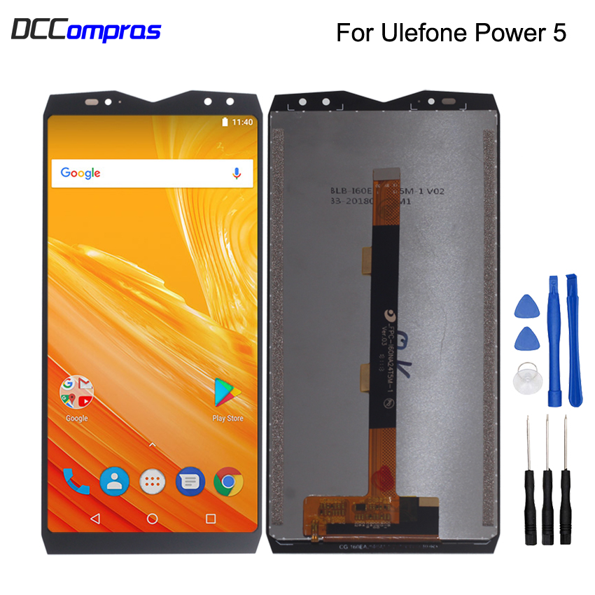 Original For <font><b>Ulefone</b></font> <font><b>Power</b></font> <font><b>5</b></font> LCD Display Touch <font><b>Screen</b></font> Digitizer Assembly For <font><b>Ulefone</b></font> <font><b>Power</b></font> <font><b>5</b></font> <font><b>Screen</b></font> LCD Display Phone Parts image