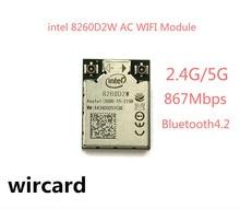 New intel 8260D2W AC WIFI Module 867Mbps Dual Band Bluetooth 4.2 WIFI Card